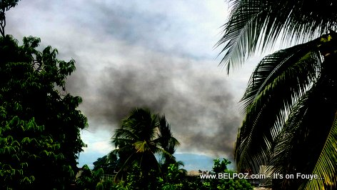 Black Smoke in the skies above Haiti from Haitian-American stuck in Peyi Lock Haiti, 30 September 2019