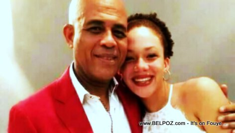 Malaika-Michel Martelly and her father, ex Haiti president Michel Martelly