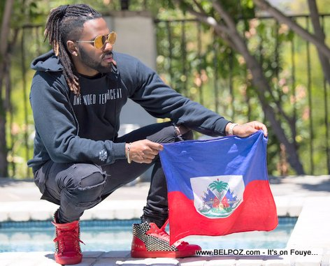 Jason Derulo Holding the Haitian Flag