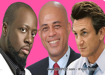 Wyclef Jean, Michel Martelly, And Sean Penn
