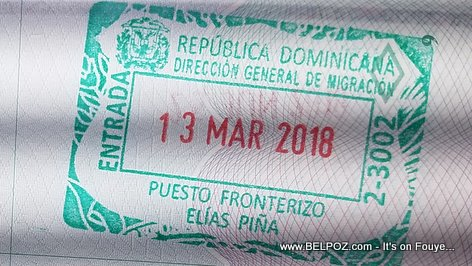 Dominican Republic Immigration Entry Stamp from Haiti