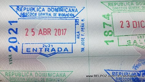 4 immigration passport stamps per trip when traveling to the Dominican Republic from Haiti