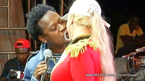 PHOTO: Gracia Delva and Blondedy Ferdinand Kissing