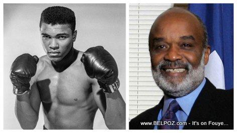 Muhammad Ali and President Rene Preval