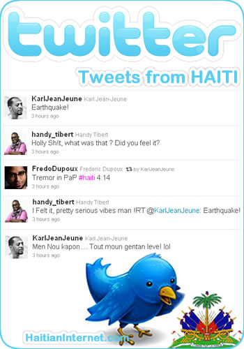 Twitter - haiti earthquake tweets