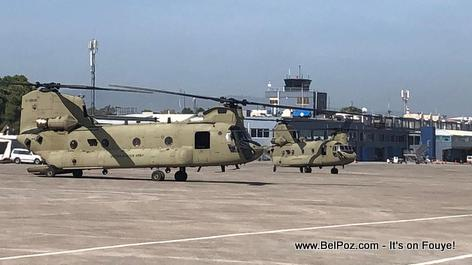 US Military Helicopters in Haiti to assist in disaster relief - Haiti Earthquake Aug 2021