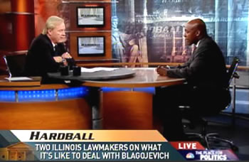 Senator Kwame Raoul and Chris Matthews on MSNBC