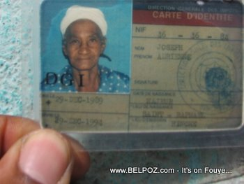Haiti Identification Card - Carte d'Identite