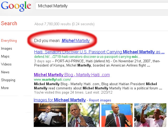 President Michel Martelly, Alias Michael Martelly, American?