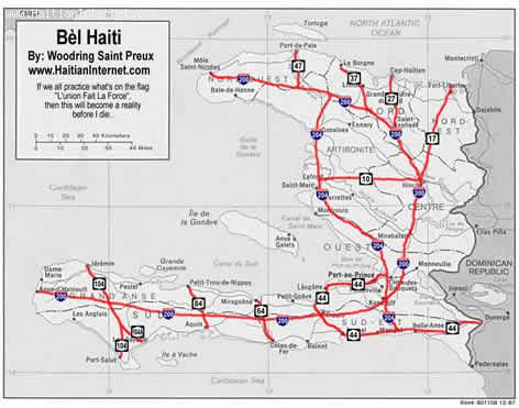 Bel Haiti Map - What Would Haiti Look Like With Highways?