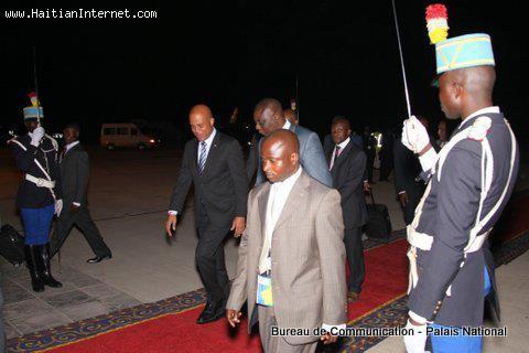 Haitian President Martelly In Congo