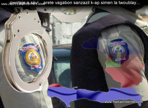Police National d'Haiti - Pwoteje e Sèvi - Arete Vagabon...