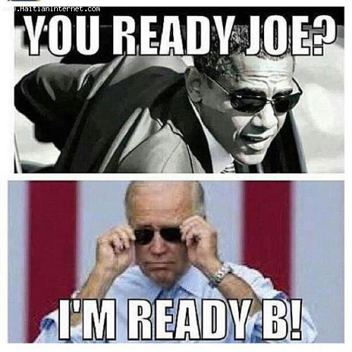 President Obama and Joe Biden Ready For Round Two