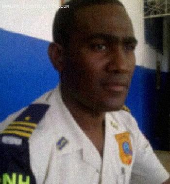 Haiti Police inspector Yves Michel Bellefleur