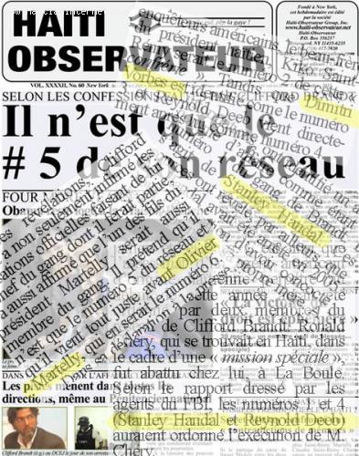 haiti observateur article - affaire brandt