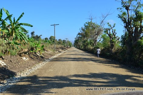 Haiti Tourism - New Road Fron Papaye to Bassin Zim Water Fall