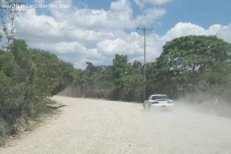 Unpaved Dirt Road in Haiti