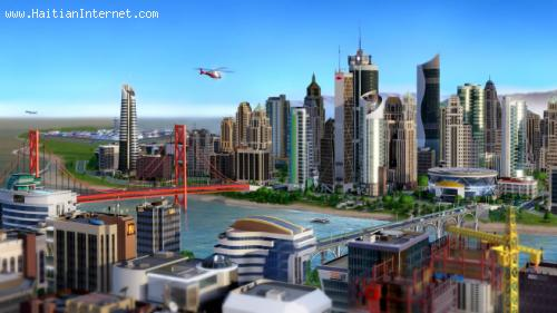 View of a Modern City - SimCity Video Game