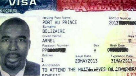 Arnel Belizaire TWO-Day visa to the United States
