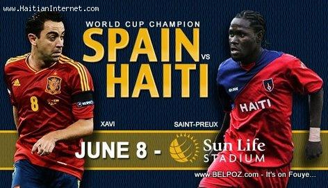 Soccer Poster: Spain Vs Haiti - June 8 2013 Sun Life Stadium