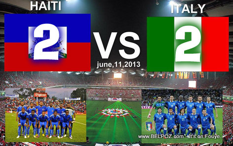 football: Italy vs Haiti in Brazil