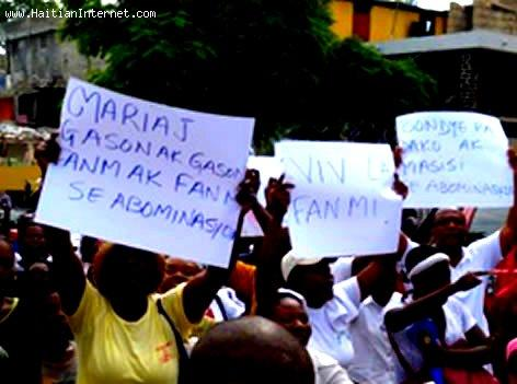 Anti Gay Protest in Haiti