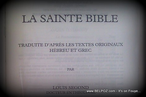 La Saint Bible - The Holy Bible (French)
