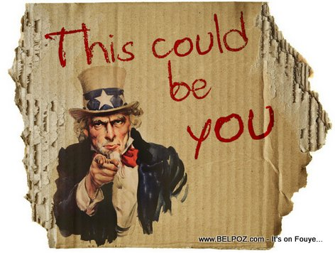 Uncle Sam - This Could Be You Homeless Carboard