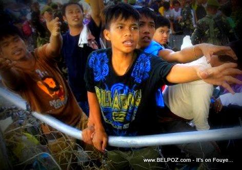 Survivors of Typhoon Haiyan in the Philippines