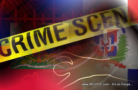 Haiti Dominican Flag - Crime Scene