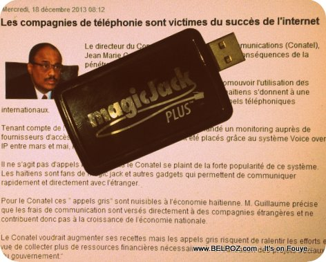 Haiti - Use of MagicJacks and other VOIP telephony gadgets, CONATEL hates it.