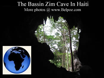 Haiti Cave Entrance Looks like Continent Of Africa