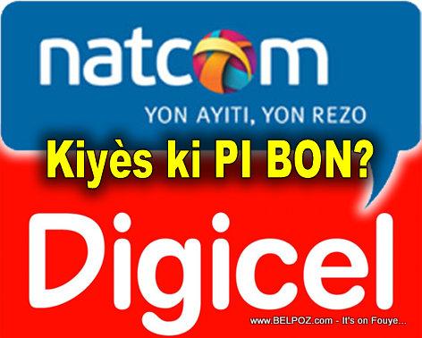 HAITI: Natcom Vs. Digicel... Kiyes ki Pi Bon?