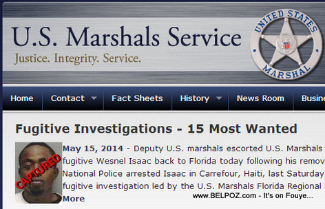 Wesnel Isaac - US Marshals Most Wanted - Captured