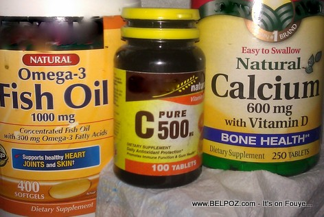 Vitamin Supplements: Omega-3 Fish Oil, Vitamin C, Calcium with Vitamin D
