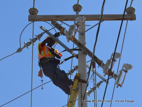 Haiti - EDH at Work - Electricite d'Haiti ap Travay