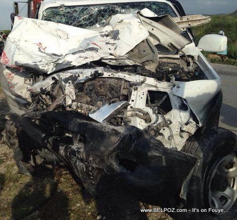Machine Depute Jules Lionel Anelus nan accident St-Marc la Samedi 15 Juin 2014