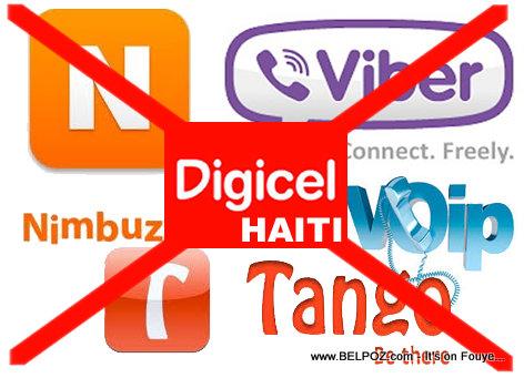 Haiti - Digicel Block VOIP Viber Tango Nimbuzz etc...