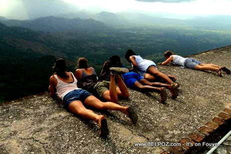 PHOTO: ONLY in Haiti - Hanging out on top of the World at the Citadelle