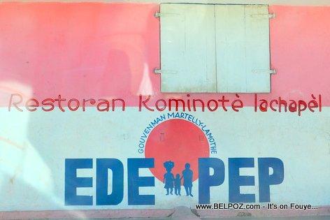 PHOTO: Restoran Kominotè La Chapelle Haiti - EDE PEP