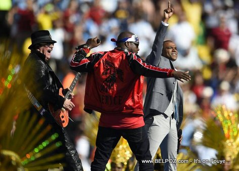 PHOTO: Wyclef Jean Performing Live at 2014 FIFA World Cup in Brazil
