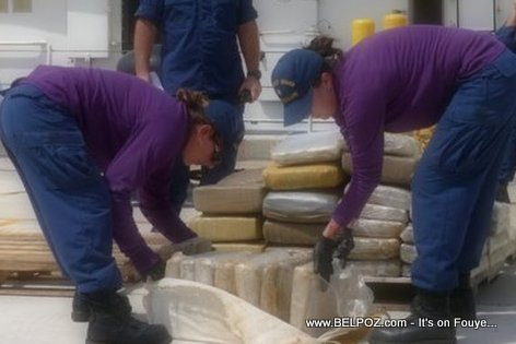 PHOTO: Haiti - U.S. Coast Guard confiscates 900 pounds of marijuana from a go-fast boat near Haiti headed for Miami