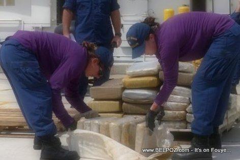 PHOTO: Haiti - U.S. Coast Guard confiscates 900 pounds of marijuana from a go-fast boat near Haiti headed for Miami
