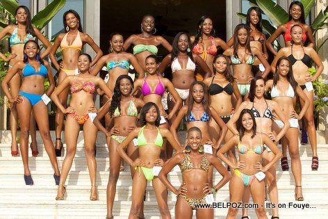 PHOTO: Miss Haiti 2014 - Bikini Fashion Show - Group Photo