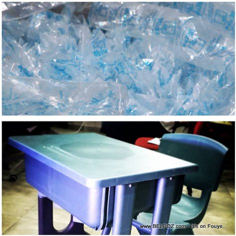 PHOTO: Sache Plastik tounen Ban Lekol - Classroom Furniture Made in Haiti