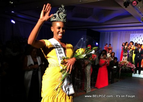 PHOTO: Carolyn Desert crowned Miss Haiti 2014
