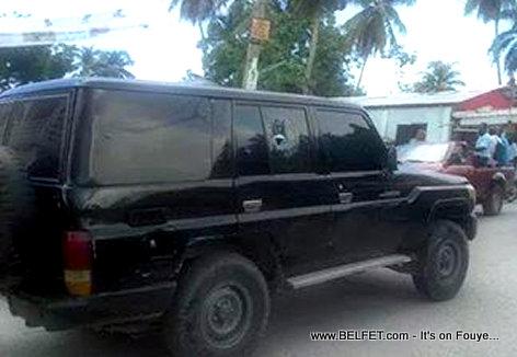 Haiti - Machine Ministre Reginald Delva Kraze nan Petit-Goave