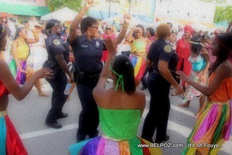 PHOTO: Little Haiti Miami - La Police ap Danse Rara Lakay...