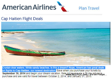 American Airlines Cheap Flight Deals to Cap Haitien, Haiti