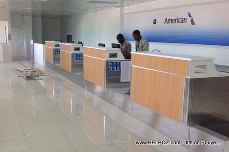 PHOTO: Haiti - American Airlines Ticket Counters at Cap-Haitien Airport